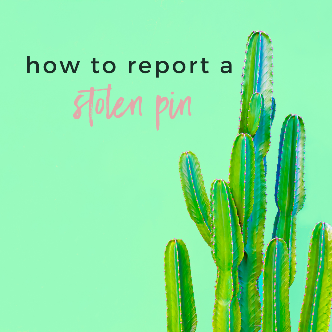 How to Report a Stolen Pin
