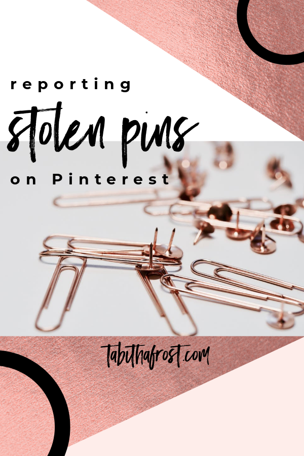 Reporting Stolen Pins on Pinterest
