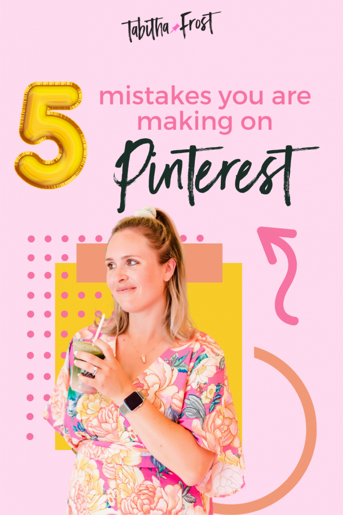 5 Mistakes you are Making on Pinterest